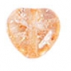 Glass Bead Cracked 8mm Heart Light Apricot Dyed - Strung